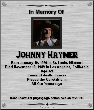 Johnny Haymer